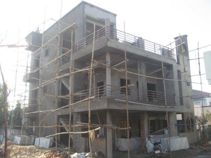 under-construction houses